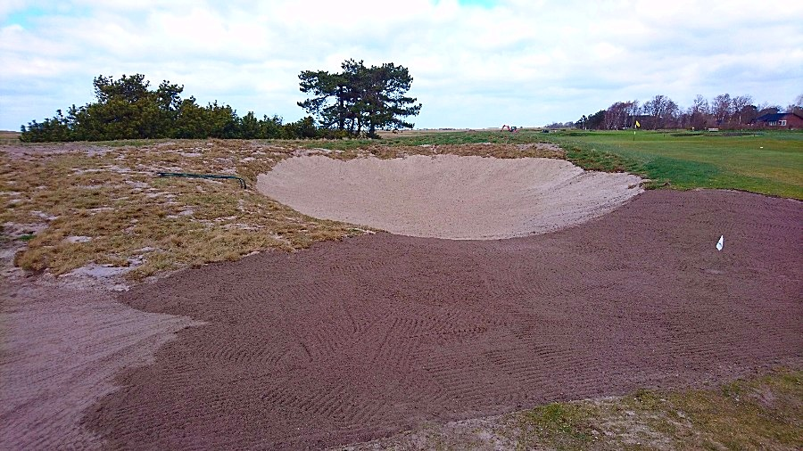 Fairwaybunker hål 9
